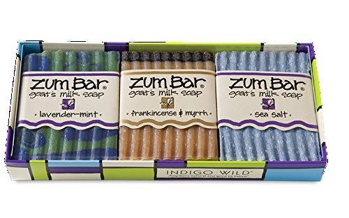 Indigo Wild Gift Set Zum Bar Set 3 Lavender Mint Frankincense & Myrrh & Sea Salt by Indigo Wild