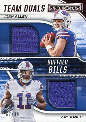 Josh Allen & Zay Jones 2018 Panini Rookies and Stars Rookie Jersey Card