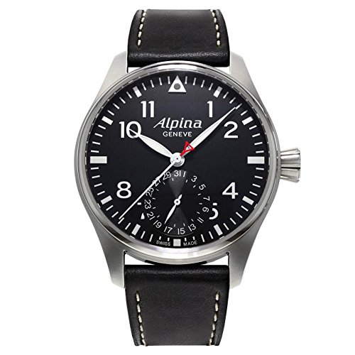 Alpina Startimer Pilot Manufacture Watch, AL-710, Black, Leather, Limited Ed.