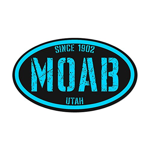 CafePress - Moab Black Ice Sticker (Oval) - Oval Bumper Sticker, Euro Oval Car Decal (Wheels Moab)