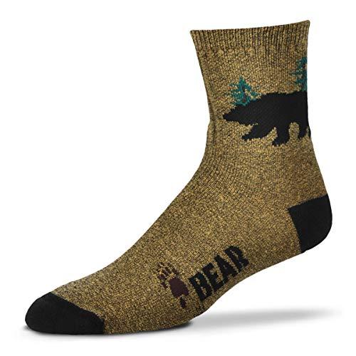 For Bare Feet Men's Fbf Originals Wildlife Novelty Sock, Bear Silhouette, Large