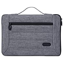 ProCase 14 - 15.6 Inch Laptop Sleeve Case Cover Bag for 15 Inch MacBook Pro/ Pro Retina, Sleeve Bag for 14 15 Inch Laptop Ultrabook Notebook Chromebook Lenovo Dell Toshiba HP ASUS Acer -Grey