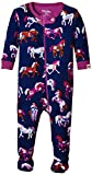Hatley Kids Baby Girl's Horses & Flowers Footed Coverall (Infant) Purple Baby One Piece 6-12 Months