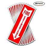"""Set of 10 Fire Extinguisher Sign 4"""" x 12"""" 5 Mil Vinyl - LAMINATED For Ultimate Protection, Durability Self Adhesive Decal UV Protected & Weatherproof"""