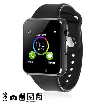 DAM TEKKIWEAR. DMQ238BKBK. G08 Smartwatch. Cámara De Fotos Incorporada. Ranura Micro Sim. Negro: Amazon.es: Electrónica