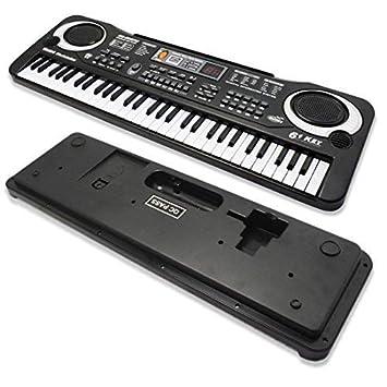 WSS - 61 TECLAS digital música electrónico Música Tecla Placa Musical eléctrica Órgano Piano Micrófono Multifunción Llave Placa portátil: Amazon.es: ...