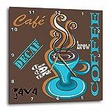 3dRose dpp_48506_1 Coffee Combo Wall Clock, 10 by 10-Inch