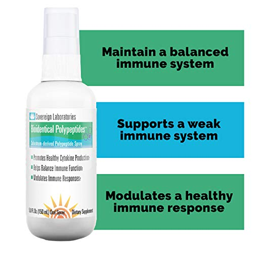 Immune System Booster BioIdentical Polypeptides-LD Spray – Up to 40 Times More Immunity Boosting PRP Levels Than Our Proprietary Liposomal Colostrum – 112 Doses – 1-4 Months Supply