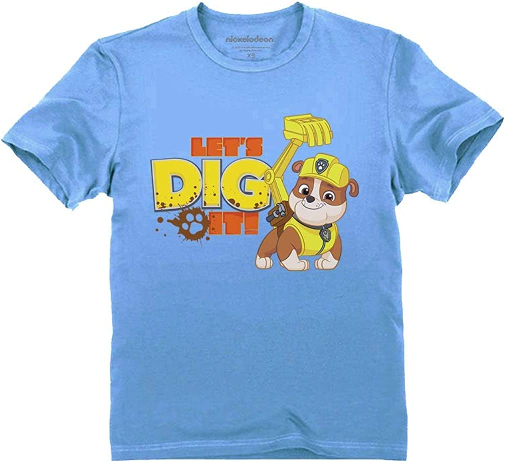 Official Paw Patrol Rubble Lets Dig It Toddler Kids T-Shirt
