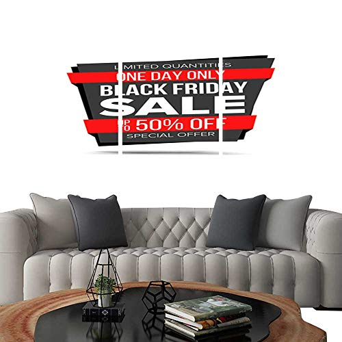 - UHOO Prints Wall Art PaintingsBlack Friday Sale Banner Vector Website Sticker Black Web Page Design Big Super Sale Isolated On White Illustration. Customizable Wall Stickers 16