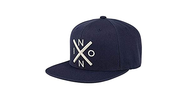 Nixon Exchange Snapback Hat All Navy/Cream One Size: Amazon.es ...