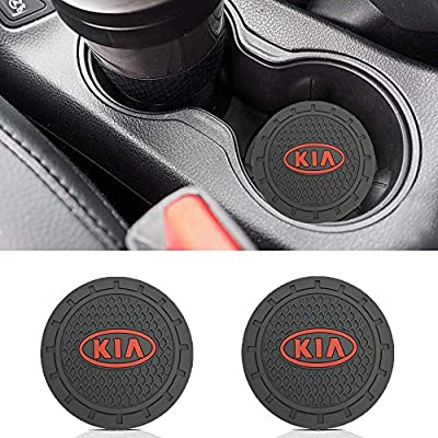 Wall Stickz Auto Sport 2.75 Inch Diameter Oval Tough Car Logo Vehicle Travel Auto Cup Holder Insert Coaster Can 2 Pcs Pack