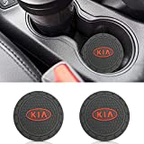 Auto sport 2.75 Inch Diameter Oval Tough Car Logo Vehicle Travel Auto Cup Holder Insert Coaster Can 2 Pcs Pack Fit Ki-a Accessory: more info