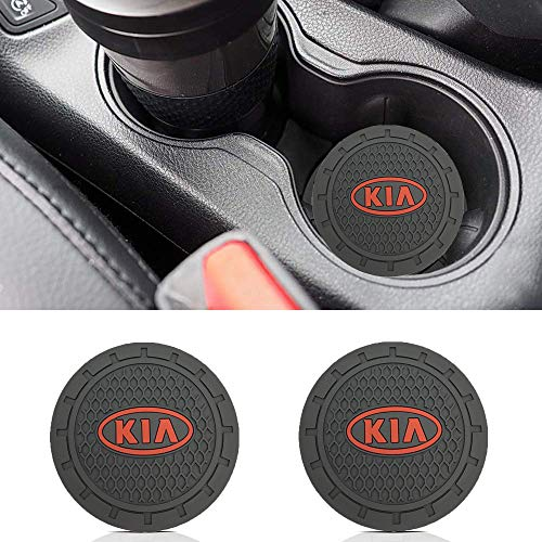 - Auto sport 2.75 Inch Diameter Oval Tough Car Logo Vehicle Travel Auto Cup Holder Insert Coaster Can 2 Pcs Pack Fit Ki-a Accessory