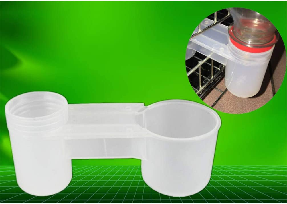 POPETPOP 20 Piezas de Bebedero de Pollo - Botella de Agua plástica de gaseosa Bebedero de pájaros Taza de alimentación de Palomas de Pollo comedero Accesorios de alimentación Animal