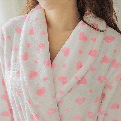 Accappatoi Autunno ZLR Pigiama carino Lady lunghe Ispessimento Inverno Clothes maniche Cuore Home A Shepe Stagione 5qIqdxwSr