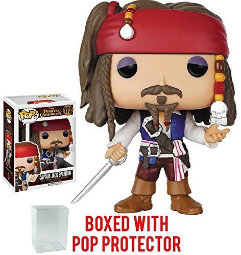Funko Pop! Disney: Pirates of the Caribbean - Captain Jack Sparrow Vinyl Figure (Bundled with Pop Box Protector Case)
