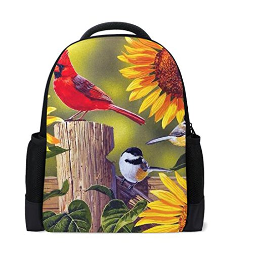 rint School Backpack Book Bags Travel Daypack Personalized (Cardinal Daypack)