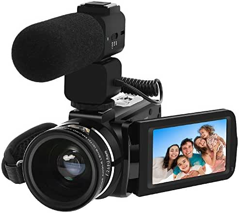 Video Camera, LAKASARA Full HD 1080P 30FPS WIFI Camera Camcorder DVR with External Microphone and Wide Angle Lens (HDV-Z20)