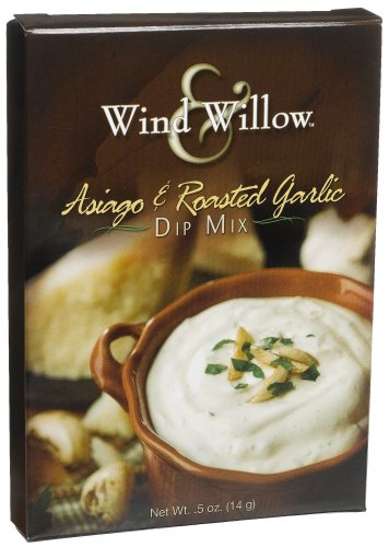 Wind & Willow Asiago & Roasted Garlic Dip, .50-Ounce Boxes (Pack of 6) -