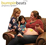 bumpinbeats pregnancy speaker. Play music and sound on mom's belly. Includes 1 speaker, audio splitter for bonding with baby, and 8 petal shape adhesives to attach to your belly.