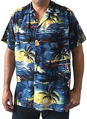 M/&B USA Men/'s Hawaiian Shirt Button Down Casual Aloha Short Sleeve Beach
