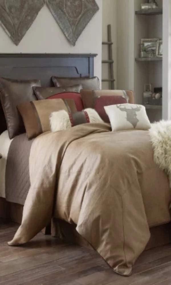 Hiend Accents Unisex Brighton Super King 4-Piece Bedding Set Tan One Size