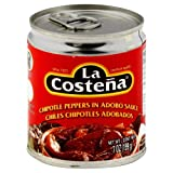 La Costena Chipotle Peppers in Adobo Sauce 7 Oz(Pack of 2)