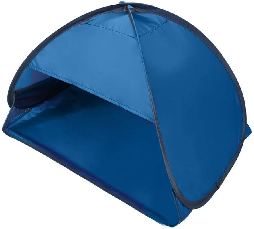 Beach Sun Shelter,Instant Sun Protection Canopy with Zippered,Beach Lounge Chair Boat,Anti-UV Mini Automatic Shade Tent Canopy for Outdoor Picnic Beach Camping