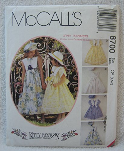 8700 McCalls Sewing Pattern UNCUT Girls Dress Beret Size 4 5 6