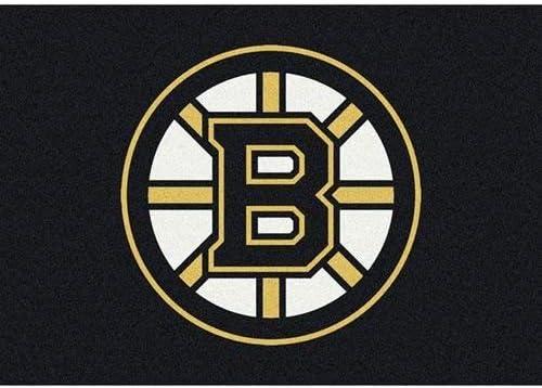 Milliken Boston Bruins NHL Team Spirit Area Rug, 7 8 by 10 9