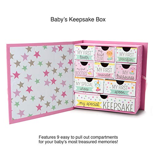 Best Bear in All The World Track Treasured Memories Baby Milestone Keepsake Storage Box