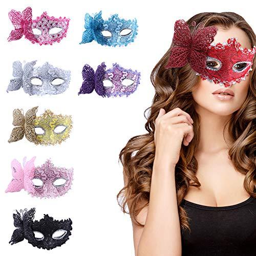 Masquerade Masks Jacksonville Fl (Mardi Gras Masquerade Mask, 8 PCS Venetian Masks Unisex Retro)