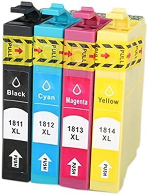 oyat® Cartuchos de tinta compatibles para Epson T1811, T1812 ...