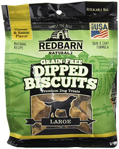 Redbarn 9 Oz/Large Cheese & Bacon Grain Free Dipped Biscuits (1 Pack), One Size ()