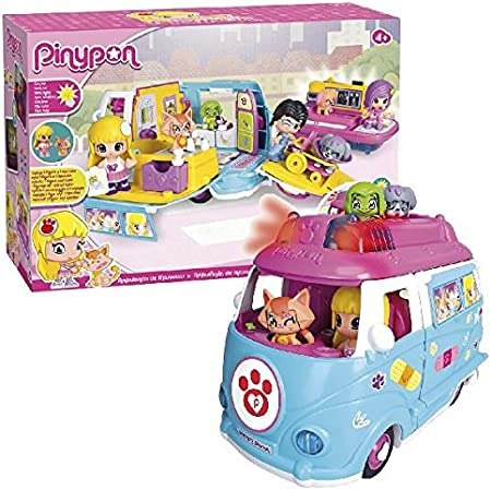 ¡SOS! La ambulancia de Pinypon tiene de todo para rescatar y tratar a las mascotas,Tiene sirena con