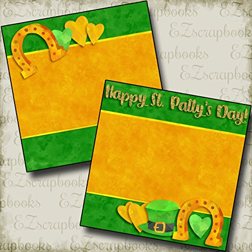 - LUCKY HORSESHOES Non-Photo-Mat - Premade Scrapbook Pages - EZ Layout 2782
