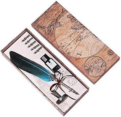 Plumas estilográficas Tongdour Pluma Dip Set de tinta para escribir, caja de regalo con 5 plumas, pluma estilográfica, regalo de boda, Naranja, Free: Amazon.es: Hogar