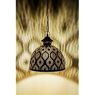 Lampada orientale marocchina – lampada a sospensione – Lampada da soffitto Afzal -2- Oro 32cm- molto pratica per un ottima illuminazione – trasmettere un eccellente – raffinata decorazione