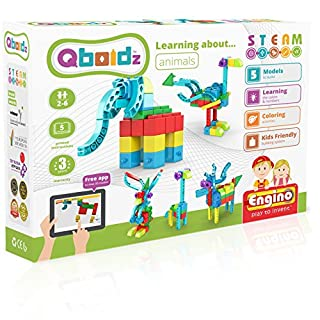 Engino ~ Qboidz ~ Learning About Animals | STEMQ01 | STEAM | Construction System for Ages 3 and up, 5 Models