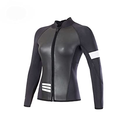 94ab3b42d6e Amazon.com  divecica Long Sleeve Jacket Neoprene Wetsuit Top for ...