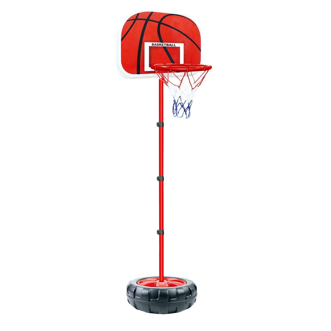 HYZH 83-200 CM Altezza Regolabile Canestro da basket Con Palla e Pompa Adatto per bambini e ragazzi