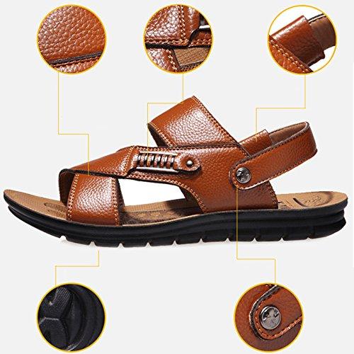 Playa De Para De Los Zapatillas Propósito Ocasionales Sandalias Doble De D Transpirables De Verano Hombres Cuero Zapatillas Del Sandalias Hombres Los STvq6P