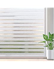 Vinyl electrostatic Window Sticker, Non-Adhesive Privacy Protection Film, Suitable for Home, Office (Geometric Stripes)