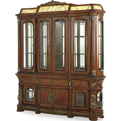 Dining Furniture Room Aico - AICO Villa Valencia Illuminated China Cabinet by Michael Amini