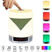 LED Card Speaker LED Table Lamp,Alarm Clock,Hands-Free Speakerphone with Mic,Personality pattern-115.Dog, Bandanas, Pet, Grooming, Cute, Accessories(1)