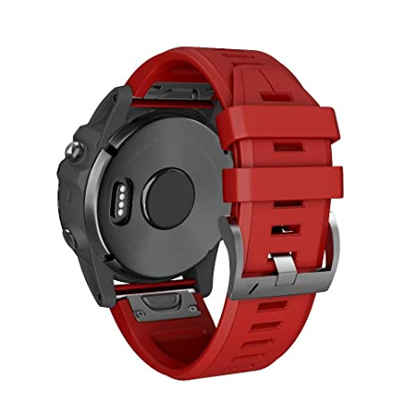 Javpoo Bandas de Reloj Garmin Fenix 5X Plus, Kit de liberación rápida Suave de Silicagel