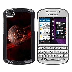 Qstar Arte & diseño plástico duro Fundas Cover Cubre Hard Case Cover para BlackBerry Q10 ( Apocalypse Saturn Rings Planet Futursim Art)