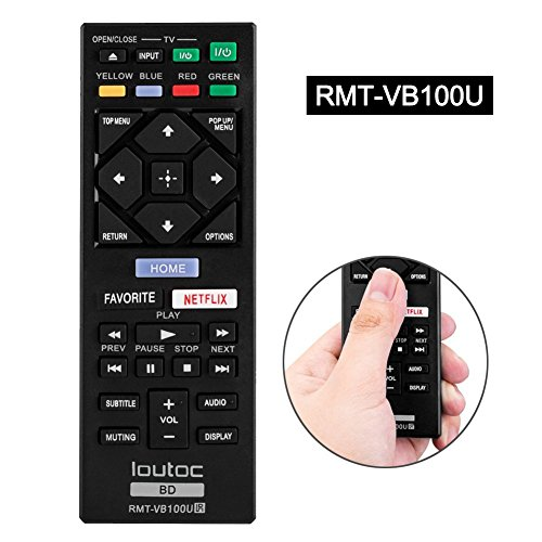 LOUTOC RMT-VB100U Blu-ray Player Remote for Sony BDP-S3500 B