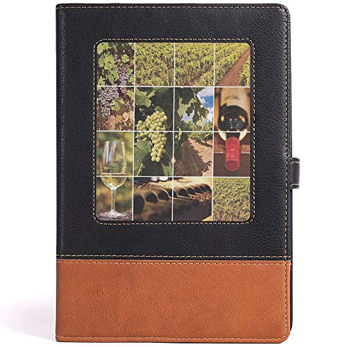 (LEATHER JOURNAL Writing Notebook Vineyard Leather Notebook for Watercolor Painting,Size 6.1x8.6 in,A5)